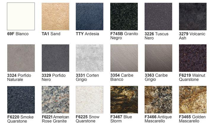 Tpc cocinas encimeras for Colores de granito para encimeras de cocina