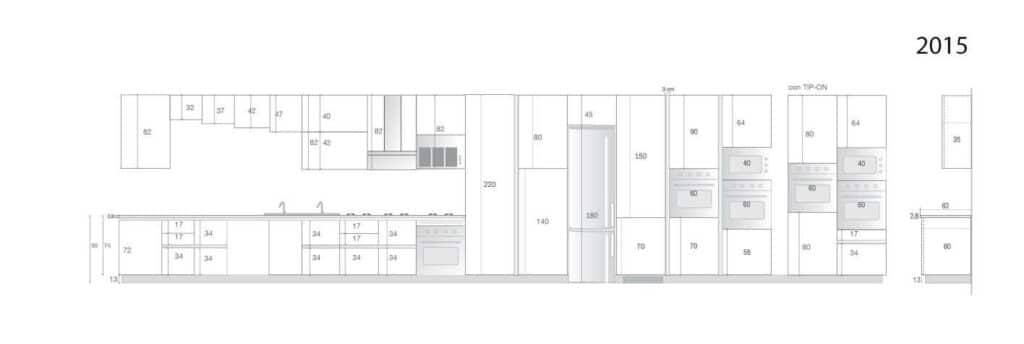 medidas de muebles de cocina en kit ideas