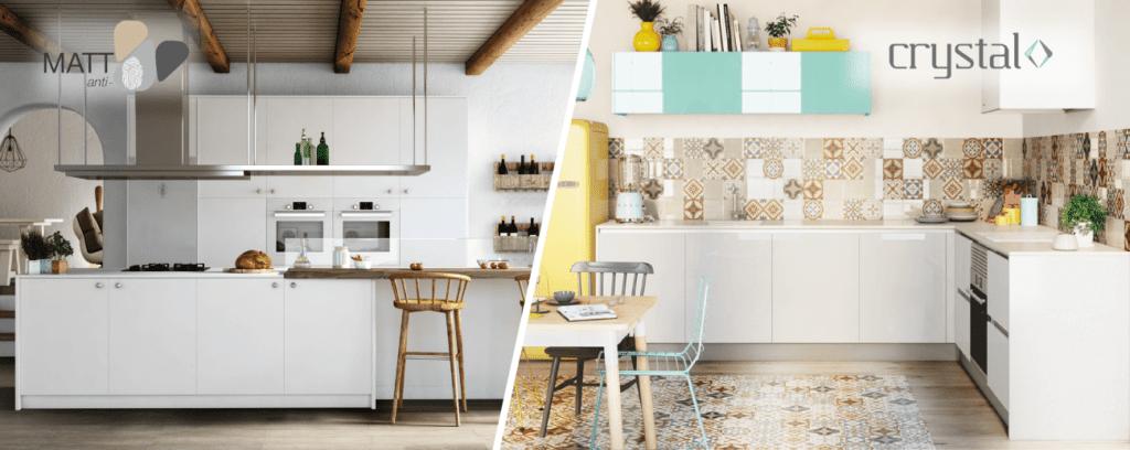 Cocinas modernas crystal y matt