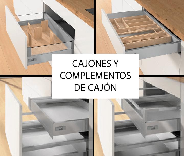 Tpc cocinas cajones y complementos de caj n for Complementos para cocinas