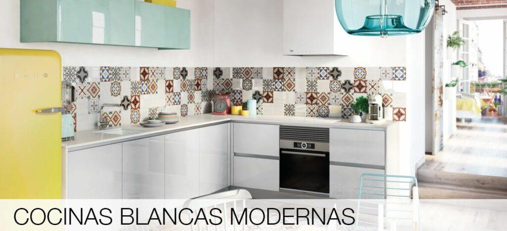 Tpc cocinas cocinas blancas modernas for Imagenes cocinas blancas