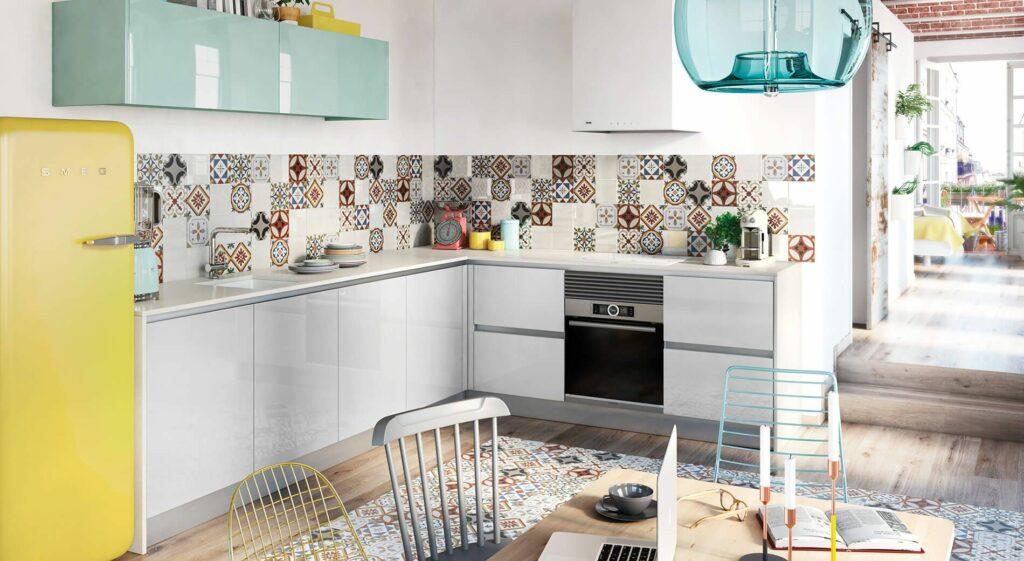 Tpc cocinas revestimiento para las paredes de la cocina for Cocinas alicatadas