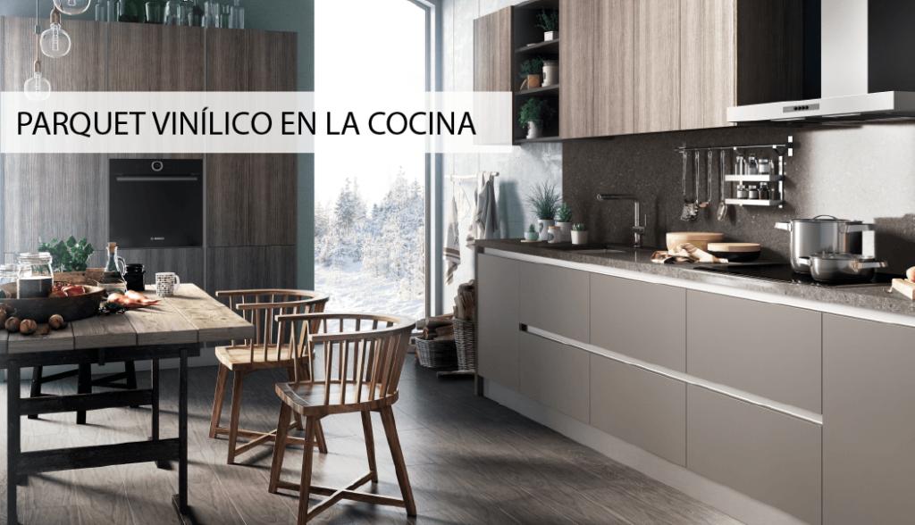 Tpc cocinas suelo de parquet vin lico en la cocina - Suelo vinilico cocina ...
