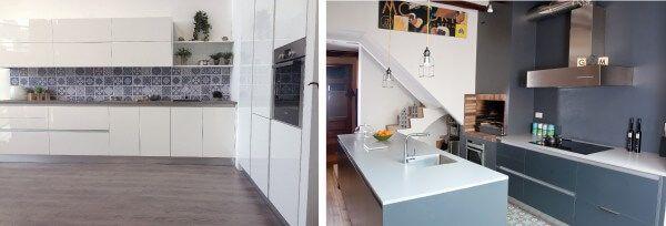 Renovar puertas de cocina tpc cocinas - Cocina blanca mate ...