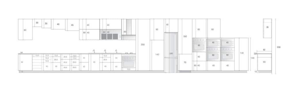 Altura muebles altos cocina simple marcar una lnea lnea a - Altura muebles de cocina ...