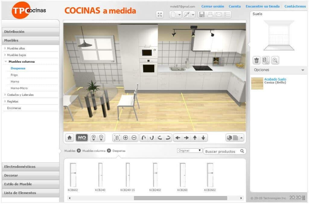 Diseñador de Cocinas 3D