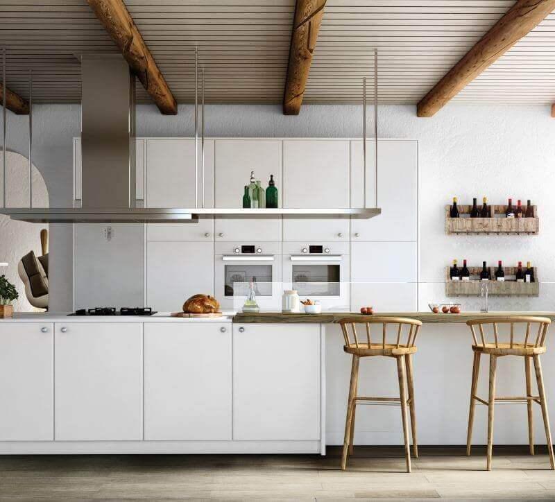 Tpc cocinas crystal blanco - Encimeras laminadas de cocina ...