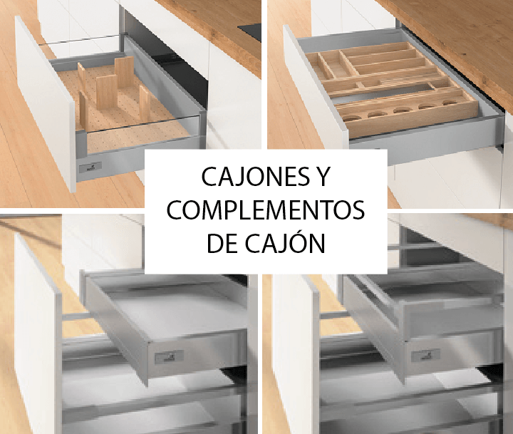 Tpc cocinas cajones y complementos de caj n for Cajones para cocina