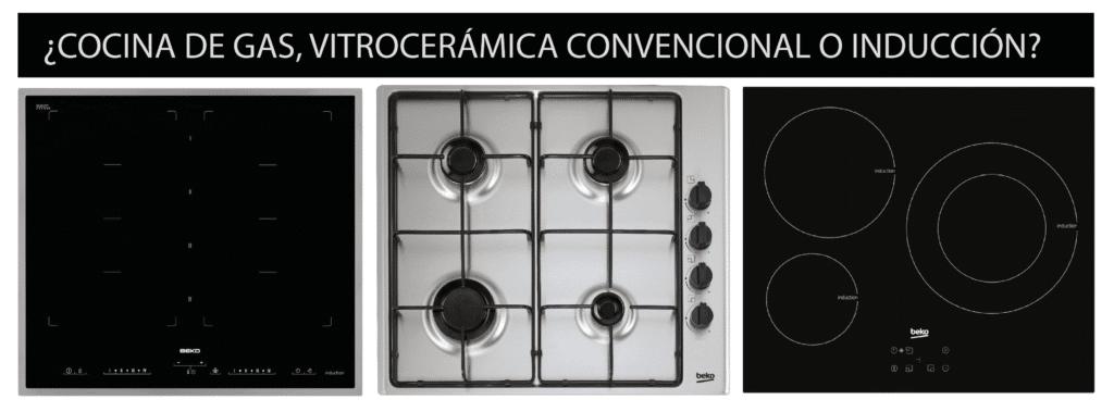 TPC Cocinas | ¿Cocina de gas, vitrocerámica convencional o de inducción?