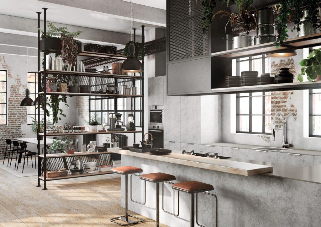 Cocina Industrial color cemento - TPC Cocinas