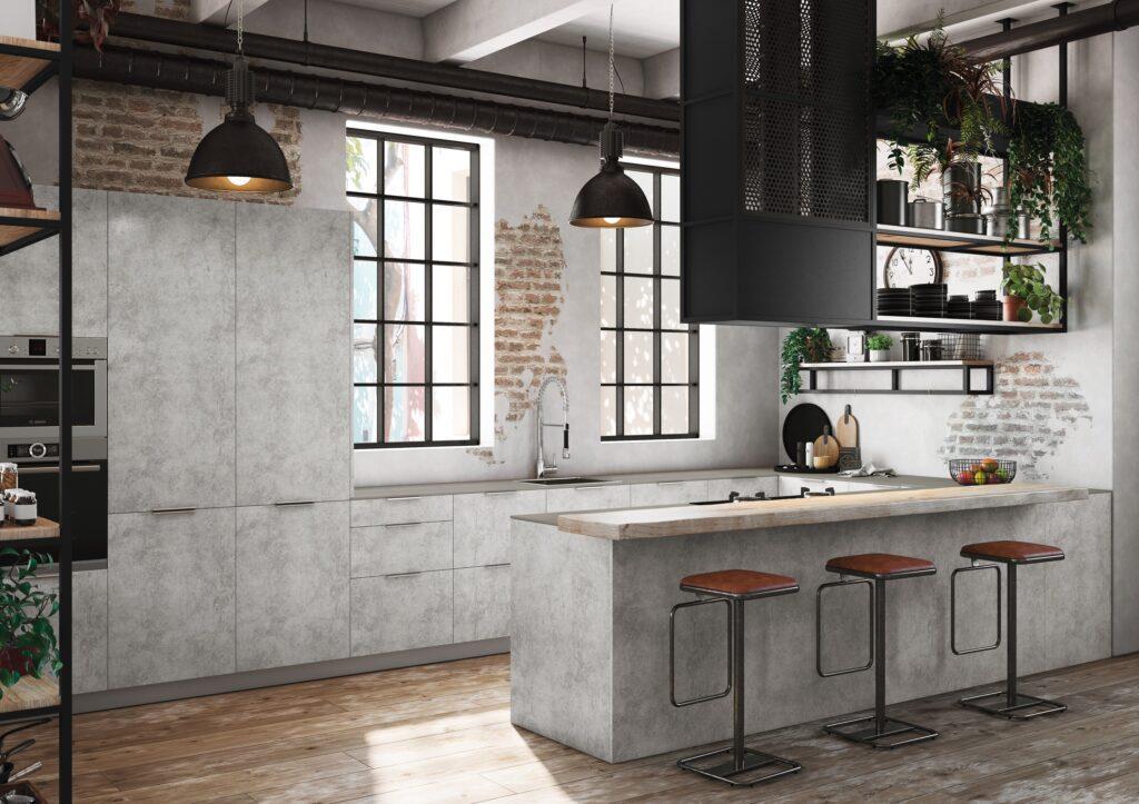 Cocina rústica industrial Cemento TPC Cocinas