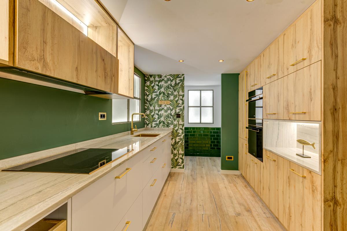 muebles de cocina color roble